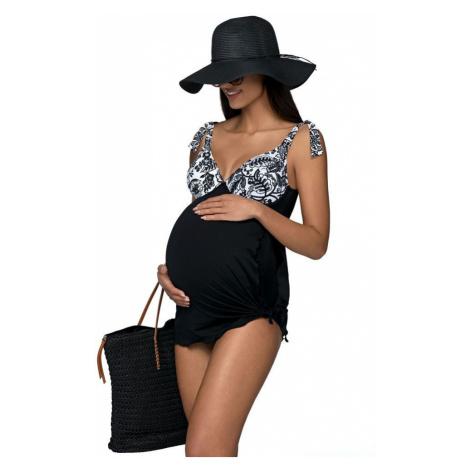 Lorin Jednodílné plavky Lucy černé s kosticemi