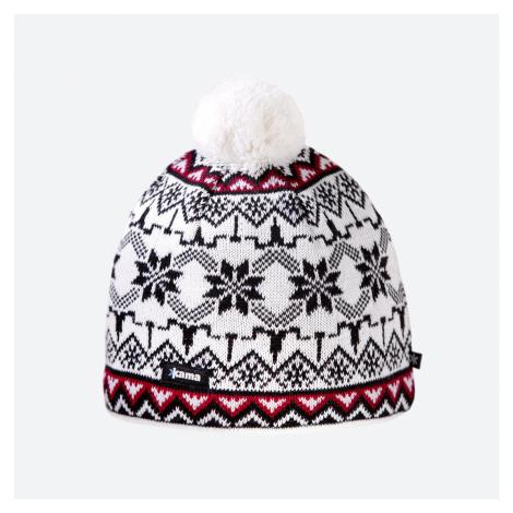 Kama A 106-100 dámská pletená Merino čepice bílá