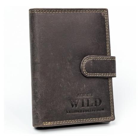 Always Wild, velká kožená peněženka pro muže RFID Stop