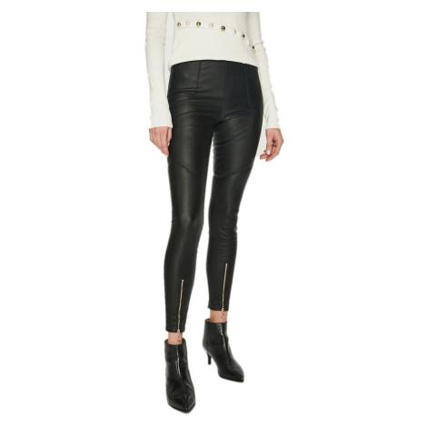 Černé kožené kalhoty PINKO
