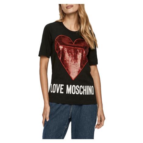Černé tričko - LOVE MOSCHINO