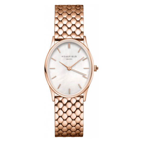 Rosefield The Oval White MOP Steel Rose Gold