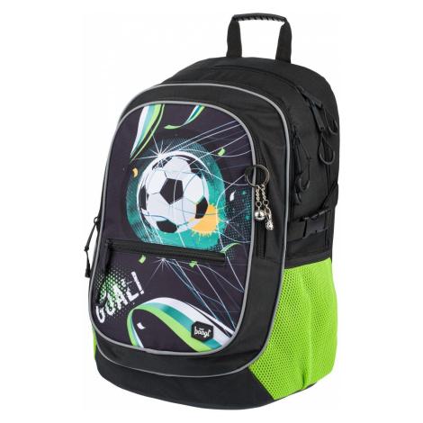 Černozelený zipový voděodolný školní batoh s fotbalovým motivem Marvyn Baagl