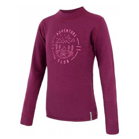Dětské tričko SENSOR Merino DF Club dl. rukáv lilla