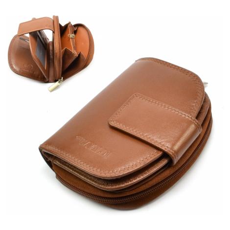 Dámská kožená peněženka světle hnědá Cavaldi
