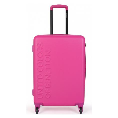 Cestovní kufr United Colors of Benetton Timis L - růžová 95l