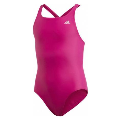 adidas ATHLY V SOLID SUIT TAKEDOWN růžová - Dívčí plavky