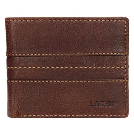 Pánská kožená peněženka Lagen Andor - hnědá