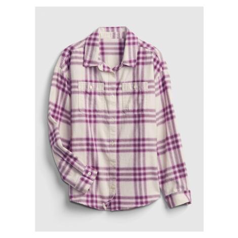 GAP Dívčí kostkovaná košile
