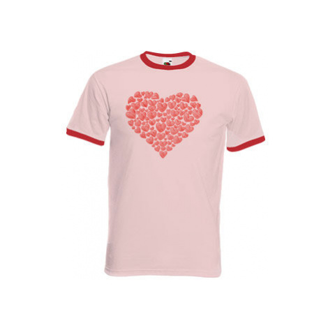 Pánské tričko s kontrastními lemy Zamilované srdce