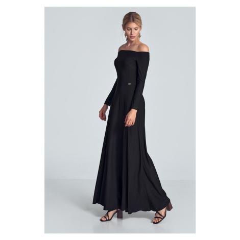 Černé šaty M707 Figl