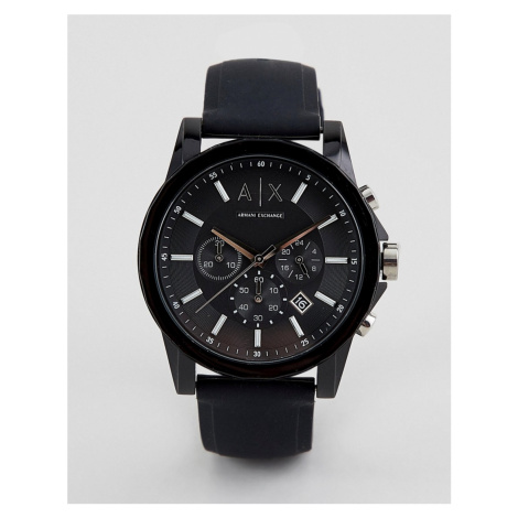 Armani Exchange AX1326 Outerbanks Silicone Watch-Black