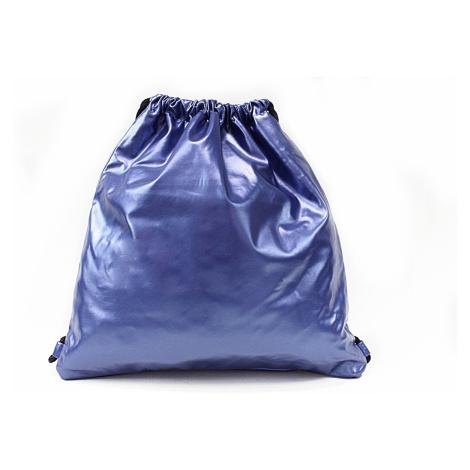 Modrý moderní lesklý vak Rowley Mahel