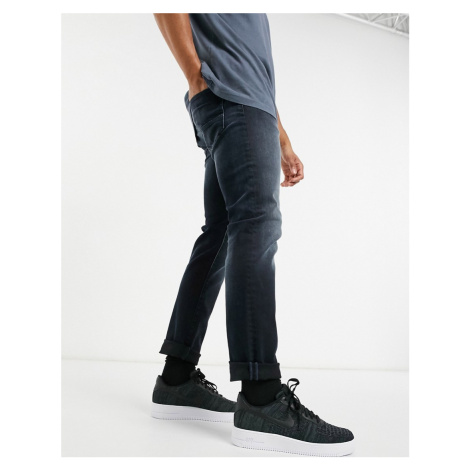 Jack & Jones Intelligence Glenn super stretch slim tapered jean in blue black