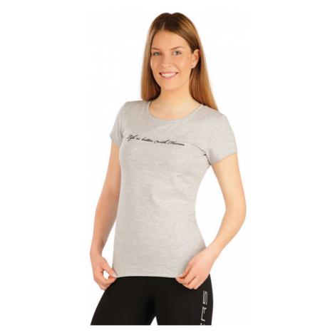 Dámské triko s krátkým rukávem Litex J1238   světle šedé melé