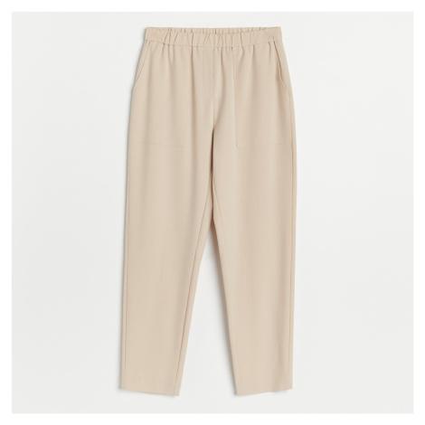 Reserved - Kalhoty jogger - Béžová
