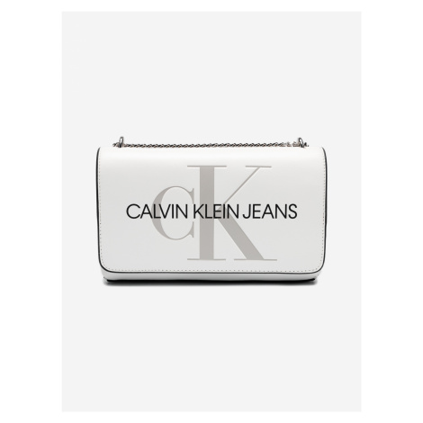 Cross body bag Calvin Klein Bílá