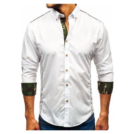Pánská košile BOLF 6877 maskáčovo-bílá