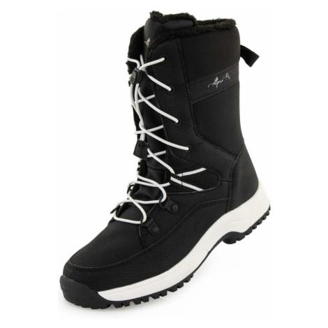 ALPINE PRO KOLASO Dětská zimní obuv KBTP213990G černá