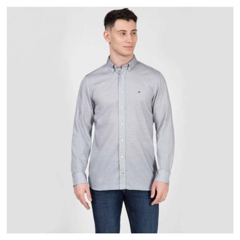 Tommy Hilfiger pánská světle modrá jemně vzorovaná košile