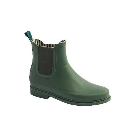 Tmavě zelené Chelsea holínky Vero Moda