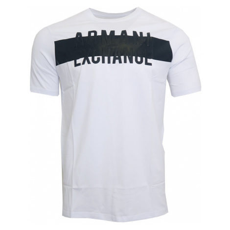 Pánské tričko s černým nápisem Armani Exchange