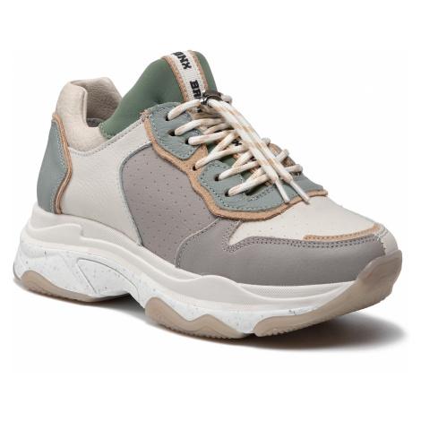 Sneakersy BRONX - 66412-Ca O.White/Sage Green/Grey 3559