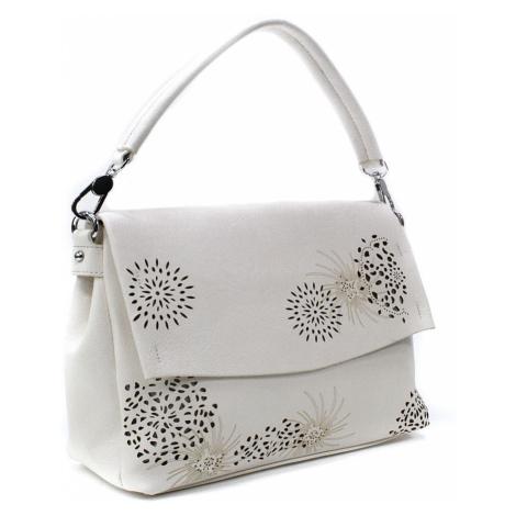 Světle béžová dámská kabelka s výraznou klopnou Musette Mahel