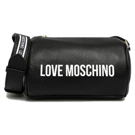 Černá kožená kabelka - LOVE MOSCHINO