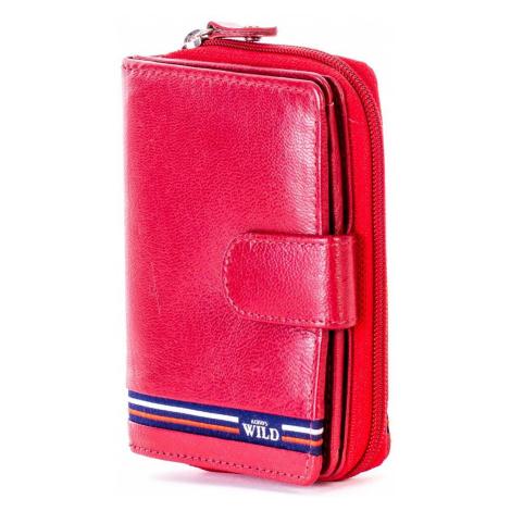 Dámská kožená peněženka s kapsou na zip N503 - FPrice one size