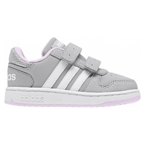 adidas HOOPS 2.0 CMF I bílá - Dětské volnočasové boty
