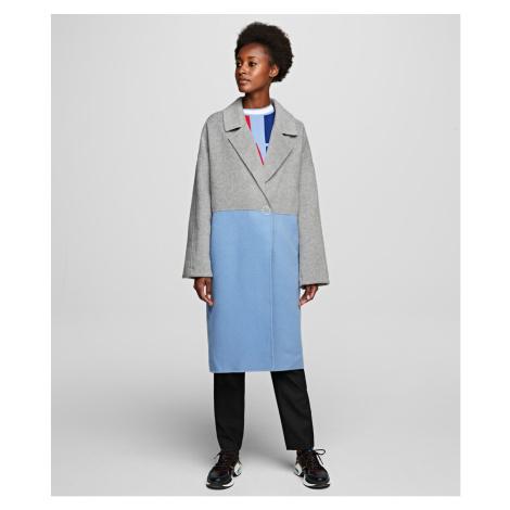 Kabát Karl Lagerfeld Colourblock Coat W/ Branding - Různobarevná