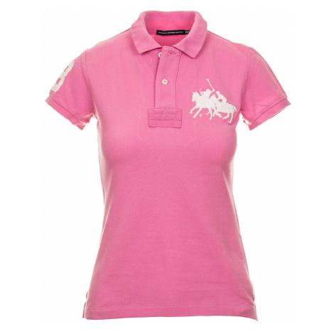 Ralph Lauren dámské polo tričko růžové s výšivkou RL106