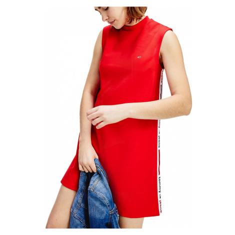Tommy Hilfiger Tommy Jeans dámské červené šaty A-line