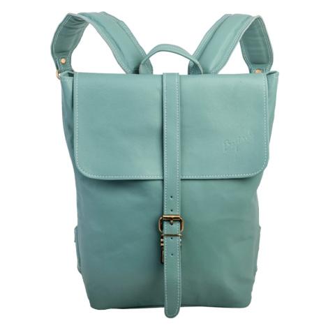 Bagind Hezkey Ocean - Dámský i pánský kožený batoh světle modrý, ruční výroba, český design