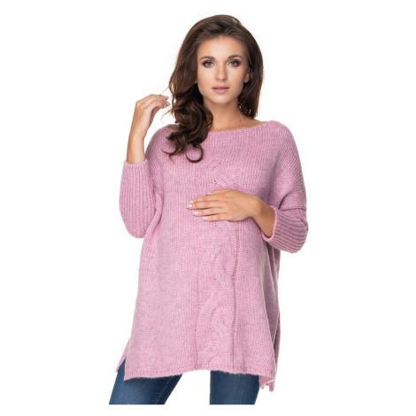 Světle fialový těhotenský pulovr 30075 PeeKaBoo
