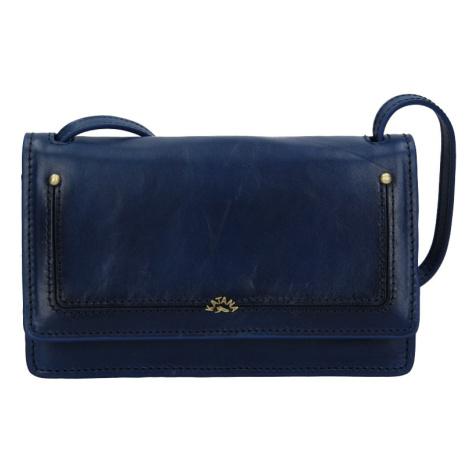 Kožená dámská crosbody kabelka Katana Nicca - modrá