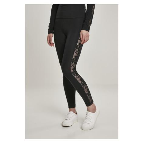 Ladies Lace Striped Leggings Urban Classics