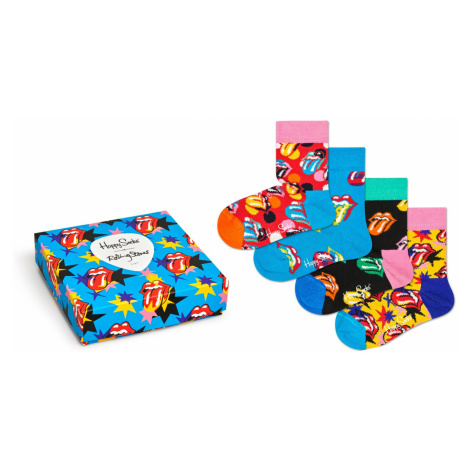 Kids Rolling Stones Sock Box Set Happy Socks