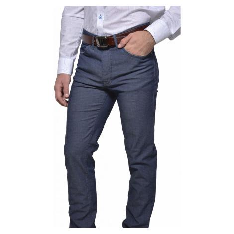Šedo - modré voľnočasové nohavice Alain Delon