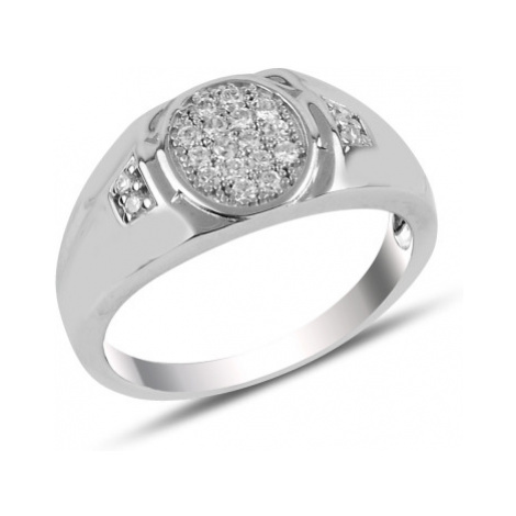 OLIVIE Pánský stříbrný prsten 3728