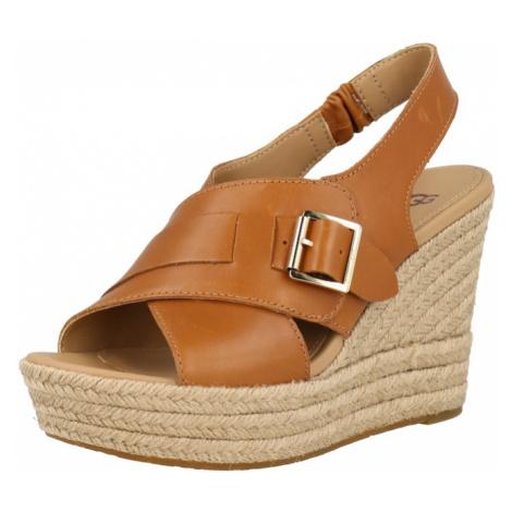 UGG Páskové sandály 'CLAUDEENE' karamelová