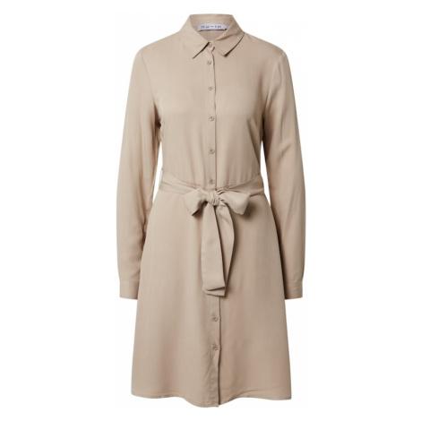 NU-IN Košilové šaty 'Belted Shirt Mini Dress' béžová