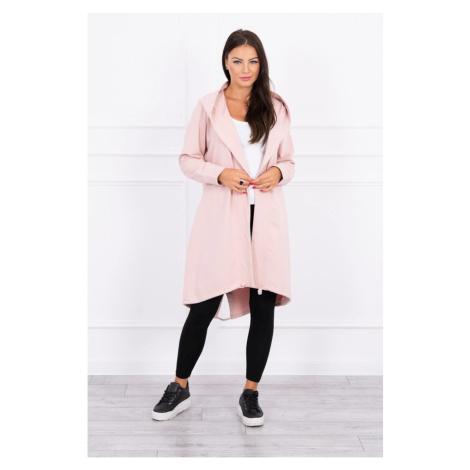 Cardigan with print oversize dark powdered pink Kesi