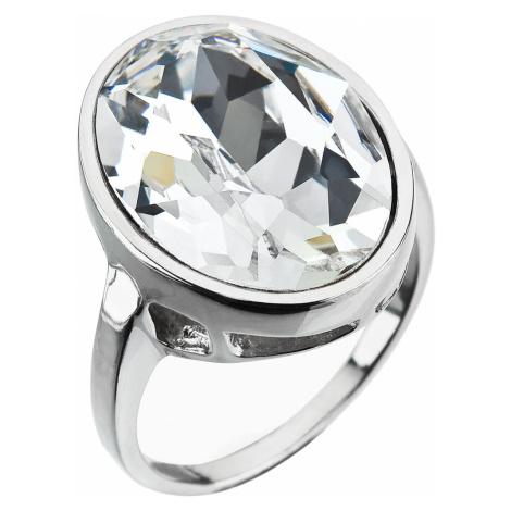 Stříbrný prsten s krystaly Swarovski bílý 35036.1 krystal Victum