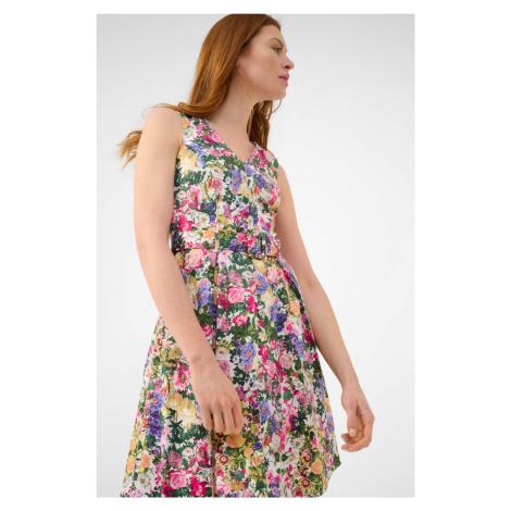 Květované šaty s áčkovou sukní Orsay