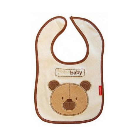 BOBO BABY Dvouvrstvý, nepromokavý bryndáček Medvídek - hnědý