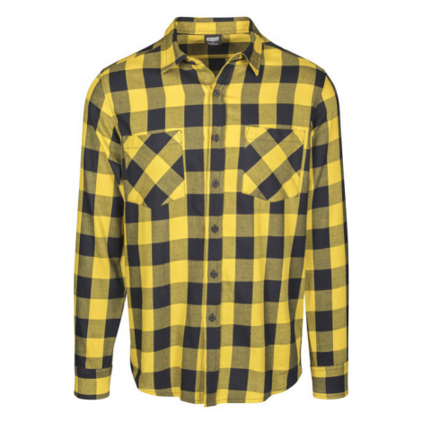 Urban Classics Checked Flanell Shirt blk/honey