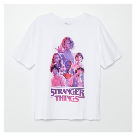 Cropp - Tričko Stranger Things - Bílá