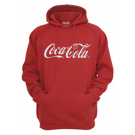Merchcode Mikina 'Coca Cola' bílá / červená